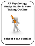 AP Psychology Study Guide BUNDLE