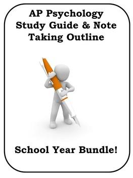 AP Psychology Study Guide BUNDLE