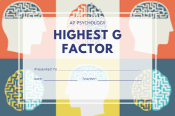 AP Psychology Superlatives | After Exam Awards