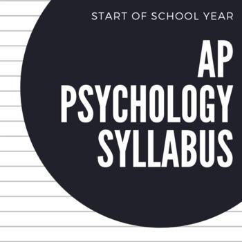 AP Psychology Syllabus *Editable