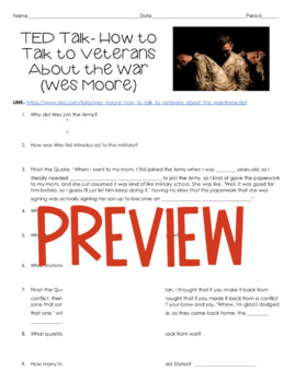 AP Psychology TED Talk- How to Talk to Veterans About the War (Wes Moore)