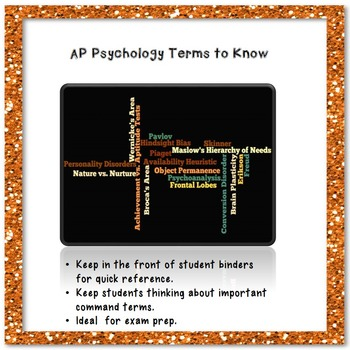 AP Psychology Terms to Know