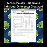 AP Psychology Testing and Individual Differences Crossword Puzzle