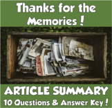 AP Psychology- Thanks for the Memories! Article Summary (Loftus)