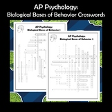 AP Psychology The Brain and Biological Bases of Behavior Crossword Puzzle 2-Pack