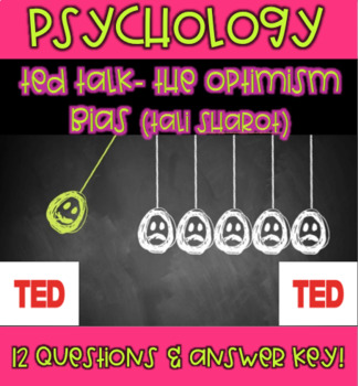 AP Psychology- The Optimism Bias (TED Talk/Tali Sharot)