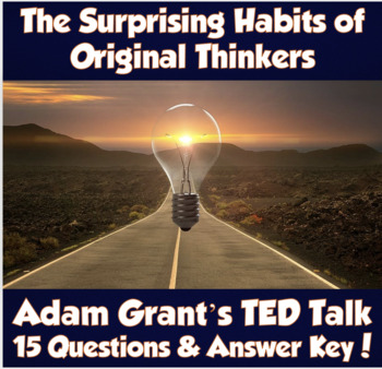 AP Psychology- The Surprising Habits of Original Thinkers TED Talk (Adam Grant)