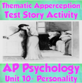 AP Psychology- Thematic Apperception Test Story Activity (Unit 10-Personality)