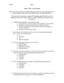 AP Psychology Unit 1 Part 1 Assessment