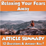 AP Psychology Unit 12/13- Relaxing Your Fears Away (Wolpe) Article Summary