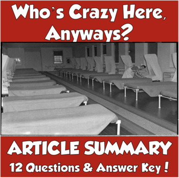 on being sane in insane places summary