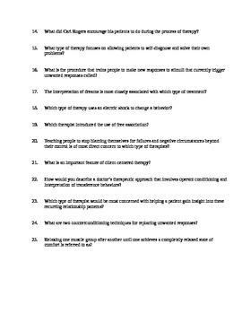 AP Psychology Unit 13 Treatment of Abnormal Behavior Review