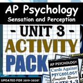 AP Psychology Unit 3: Sensation & Perception Activity Pack!  Google Drive Access