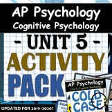 AP Psychology Unit 5: Cognitive Psychology - Activity Pack: includes COLD CASE!