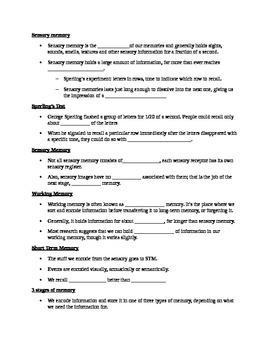 AP Psychology Unit 7: Cognition Student Notes Outline