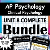 AP Psychology - Unit 8 - Clinical Psychology (Abnormal) Bundle - Google Drive!