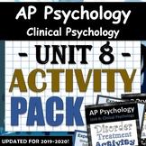 AP Psychology - Unit 8 - Clinical Psychology (Abnormal Psych) - Activity Bundle