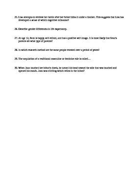 AP Psychology Unit 9 Developmental Psychology Review