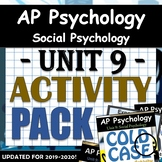 AP Psychology - Unit 9 - Social Psychology Activity Bundle - Google Drive Access