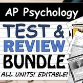 AP Psychology Unit Test & Review BUNDLE! Tests & FRQs EDIT