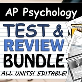 AP Psychology Unit Test & Review BUNDLE! Tests & FRQs EDIT