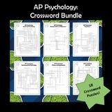 AP Psychology Vocabulary Crossword Puzzle Bundle
