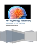 AP Psychology Vocabulary and Flashcards