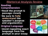 AP Rhetorical Analysis Review