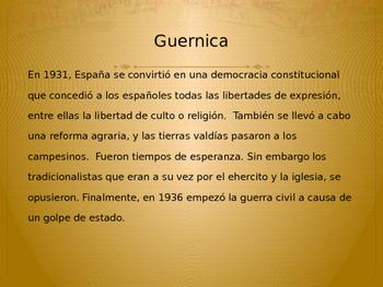 AP SPANISH LITERATURA- GUARNICA