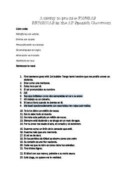 AP SPANISH LITERATURE Review for Figurative Language