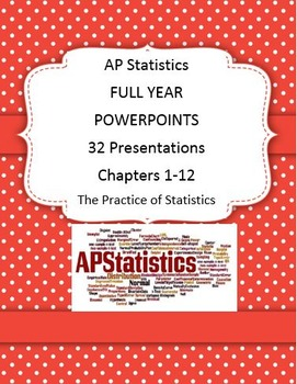AP STATS POWERPOINTS FULL YEAR 32 PRESENTATIONS!
