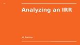 AP Seminar - Analyzing an IRR Annotation Activity