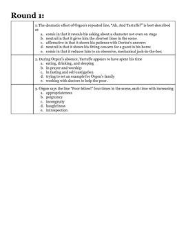 AP Smarty Pants Challenge Handout #11