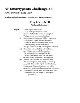 AP Smarty Pants Challenge Handout #6
