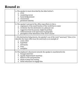 AP Smarty Pants Challenge Handout #7