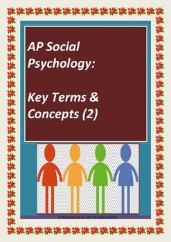 Social Psychology Key Terms & Concepts (2)