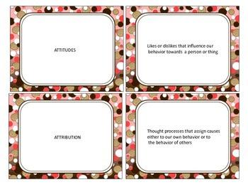 Social Psychology: Study Cards (1)
