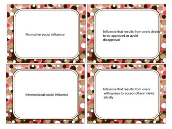 Social Psychology: Study Cards (2)