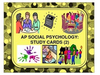 Social Psychology: Study Cards (2)