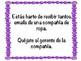 AP Spanish 20 Second Conversation Prompts