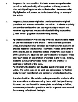 AP Spanish Advanced Vocabulary Reading Listening  - La estética - Los hipsters