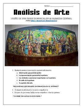AP Spanish - Art Analysis Assignment - Beauty and Aesthetics