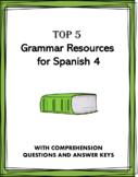 Spanish 4 Mini Bundle Grammar Review: 4 Resources at 30% off!
