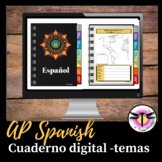 AP Spanish Digital Notebook with 6 themes - Can be upload in Google