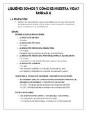 AP Spanish - Education Notes - Contemporary Life - La vida