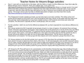 AP Spanish- El Projimo Triangulo- Meyers Briggs 3 Day Lesson