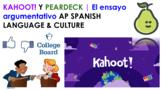 AP Spanish Ensayo Argumentativo o Persuasivo   KAHOOT Review Game for Rules