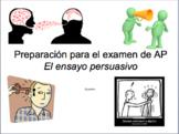 AP Spanish Ensayo Persuasivo & Ensayo Argumentativo PowerPoint in SPANISH