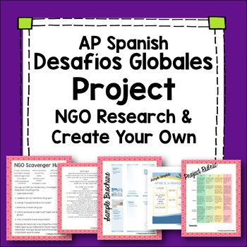 AP Spanish: Global Challenges Project - Study an NGO then