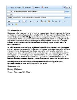 AP Spanish Interpersonal Writing Task